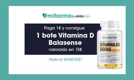 Paga 1 € y al hacer cualquier compra consigue un bote de vitamina D3 de 90 pastillas con Mifarma.es