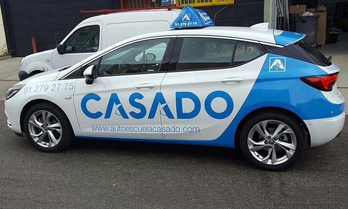 Autoescuela Casado - Autoescuela Casado: Curso para carné de coche con 12 prácticas para 1 o 2 personas desde 69 € en Autoescuela Casado