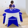 Round Kids' Table with Stools
