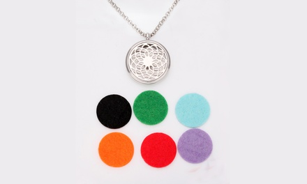 Aromatherapy Essential Oil Diffuser Necklace: One $12 or Two $19
