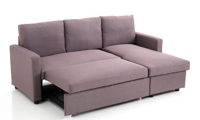 Divani con penisola planet e pixel groupon goods for Groupon divano letto