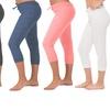 Coco Limon Women's Solid-Colored Capri Joggers (6-Pack)