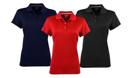 Adidas Women's ClimaCool Diagonal-Textured Polo 2afd9494-583b-11e7-9d62-002590604002