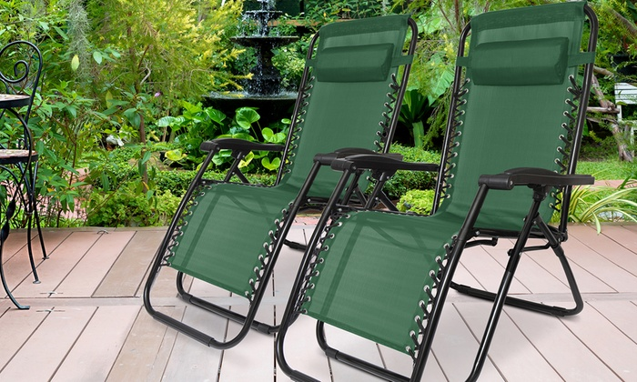 One or Two Humlin Zero-Gravity Folding Chairs