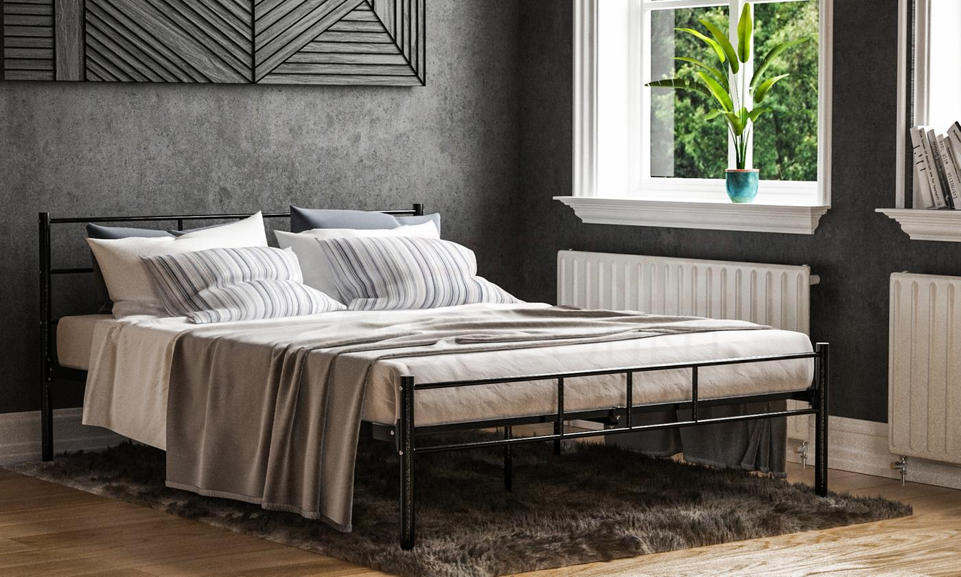 Metal Dorset Bedframe in Choice of Size and Colour from £49.99 (50% OFF)