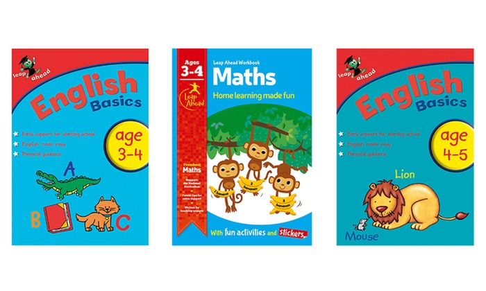 H R International : Set of Three (AED 49) or Four (AED 59) Leap Ahead Workbooks