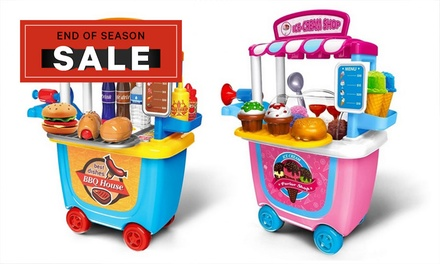 Kids' Pretended Play Barbecue Shop or Ice Cream Shop Set: One $25 or Two $45