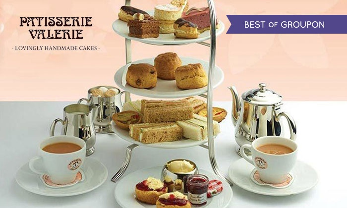 Patisserie Valerie - Multiple Locations: FINAL DAY Traditional or Sparkling Afternoon Tea for Two at Patisserie Valerie, Nationwide (Up to 24% Off)