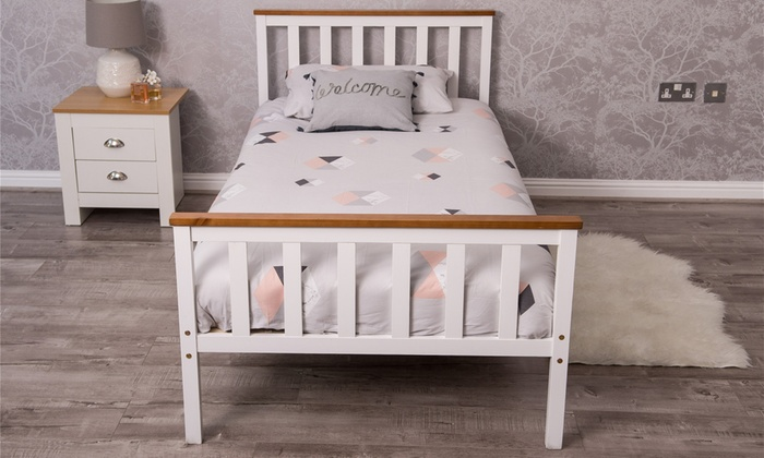 Single or Double Wooden Bed Frame with Optional Mattress