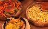 Burger oder Panini mit Fries
