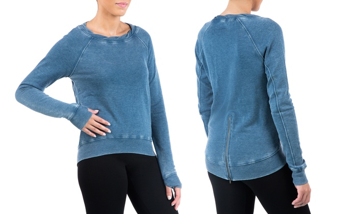 Sociology Women's Sweatshirt with Zip Back Bottom (Size L)