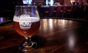 Barrel of Monks Brewing: Brewery Tour with Tasting and Souvenir Glasses for Two or Four at Barrel of Monks Brewing (Up to 51%Off)