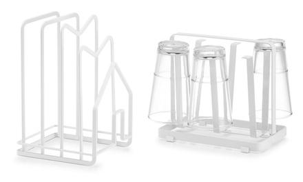 Scolapiatti o bicchieri Zeller in metallo