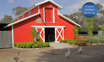 The Big Goose Farm Park Entry + Tractor Ride: Child $8, Adult $11, Family of 4 $35 Up to $50 Value