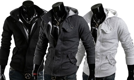 Men's SlimFit Hooded Jacket