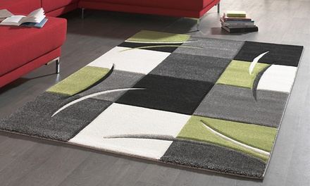 Diamond Abstract Hand-Carved Rug in Choice of Size and Colour