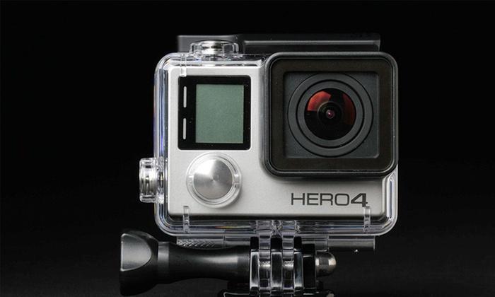 GoPro Hero4 Silver 1080p Action Camera Bundle