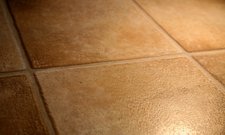 Two or Four Rooms of Tile and Grout Cleaning from C4 Carpet Care (Up to 57% Off)