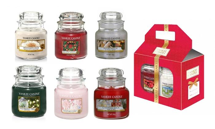 Yankee Candle Medium Jar Gift Set Groupon