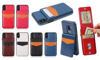 Credit Card Folio Wallet Case for iPhone 6/6s, 6/6s Plus, 7/8, or X/Xs