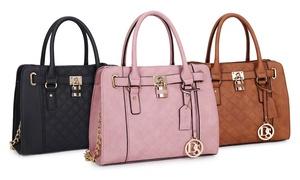 Emerson Place Padlock Satchel Handbag at Emerson Place Padlock Satchel Handbag, plus 9.0% Cash Back from Ebates.
