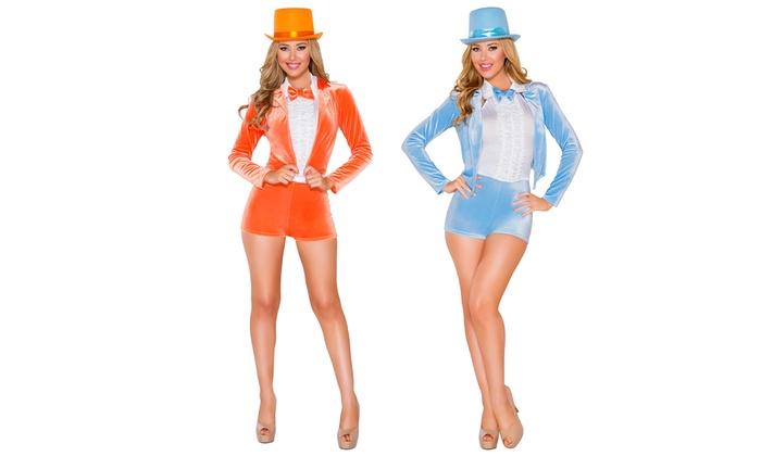 Women's Funnyman Tuxedo Costume