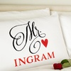 Up to 77% Off Personalized Romantic Pillowcases from Qualtry
