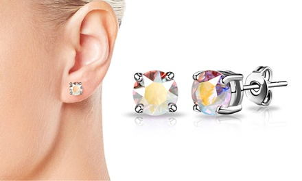 One or Two Pairs of Philip Jones Aurora Borealis Earrings with Cystals from Swarovski®