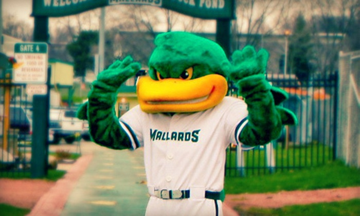 Madison Mallards - Duck Pond at Warner Park: Madison Mallards Baseball Game and Team Hats for Two or Four at Warner Park (Up to 55% Off). Four Options Available.