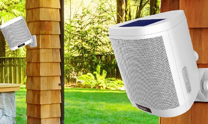 Up To 64 Off On Ion Audio Solar Outdoor Speakers