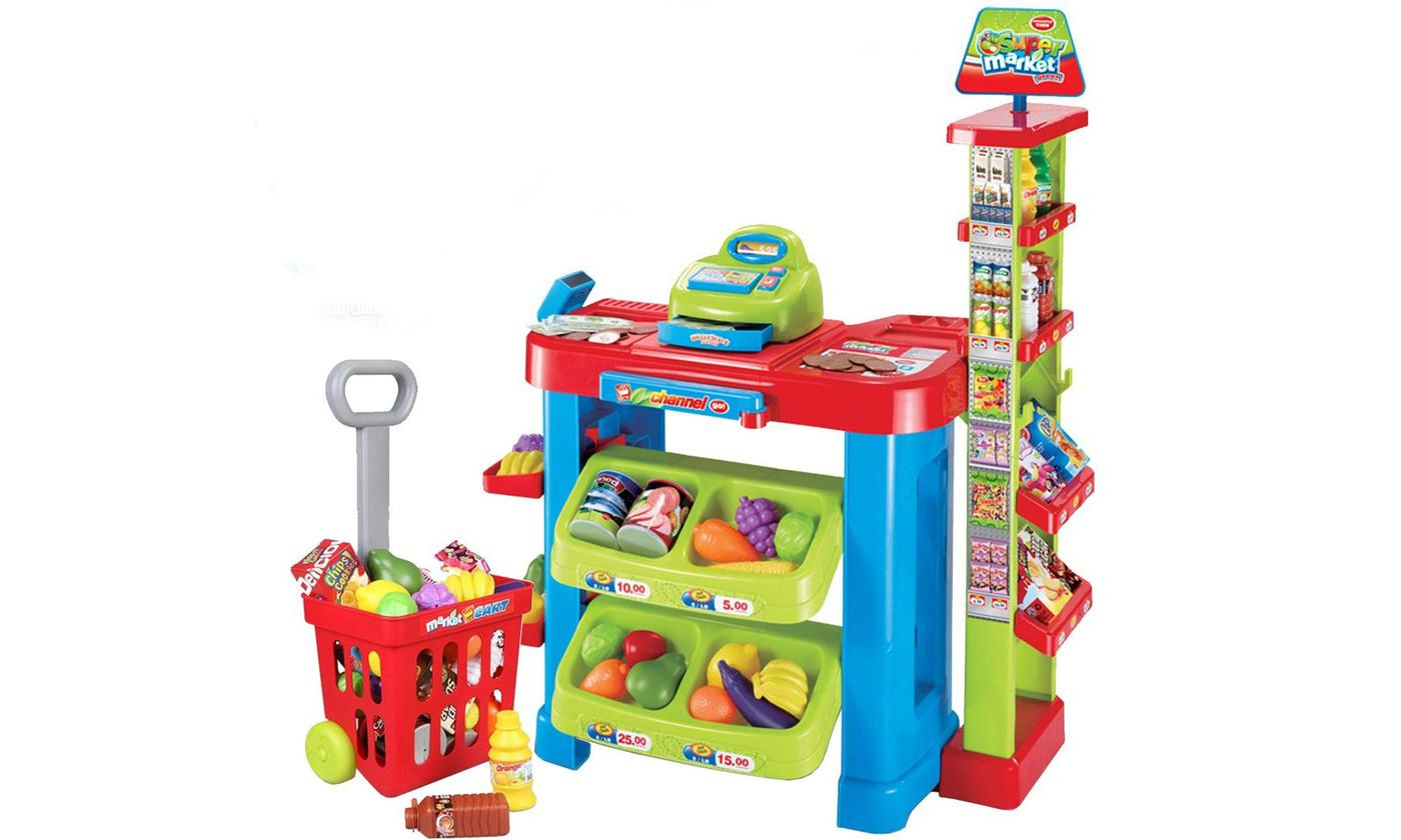 DEAO Kids' Supermarket Play Set with Accessories