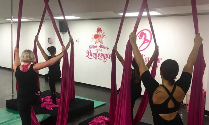Venus Starrs School of Burlesque and Aerial Arts - Wellington: One Class ($15) or 10-Trip Concession Card ($129) at Venus Starrs School of Burlesque and Aerial Arts(Up to $260 Value)