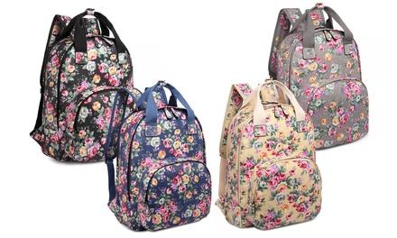 Multi-Pocket Coated Backpack