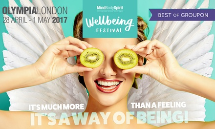 Two (2) Tickets to Mind Body Spirit Festival, 28 April–1 May at Olympia (Up to 50% Off)