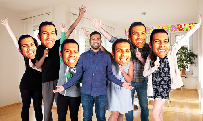 Custom Head Cutouts on A Stick from Build-A-Head (1- or 3-Pack)