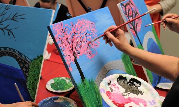 Wine And Paint Night Art Life Gallery Studio Groupon