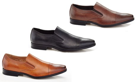 Adolfo Men's Cap Toe Slip-on Dress Shoes