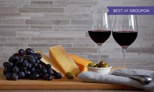 Weinland Waterfront: Verkostung 7 kalifornischer Weine für 2 oder 4 Personen inkl. Käse-Schinken-Platte und Wasser im Weinland (53 % sparen*)