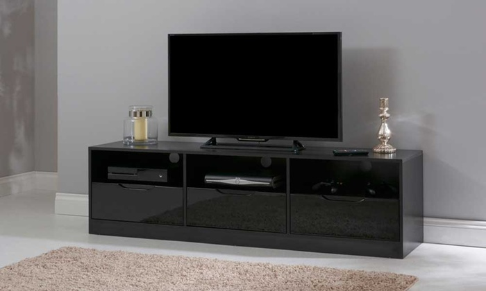 toulouse gloss tv cabinet groupon. Black Bedroom Furniture Sets. Home Design Ideas