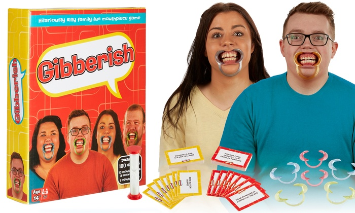 Gibberish Family Game with Optional Additional Mouthpieces and Expansions (£3.29)