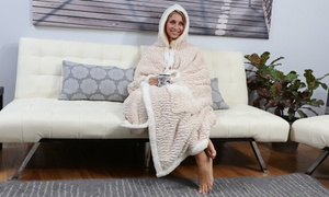 Chic Home Sherpa-Lined Hoodie Robe
