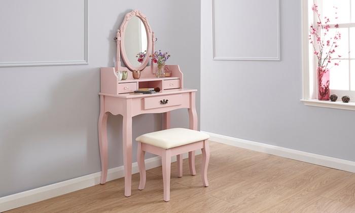 vintage style dressing table set