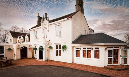Ayrshire: 1 to 2 Nights for Two with Breakfast and Dinner at the Burnhouse Manor Hotel