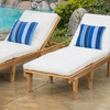 Paolo Wooden Chaise Lounge with Cushion (Set of 2)