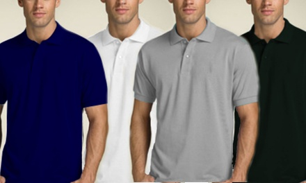 Four- (AED 89) or Eight-Pack (AED 159) of Pique Polo T-Shirts in Choice of Colours