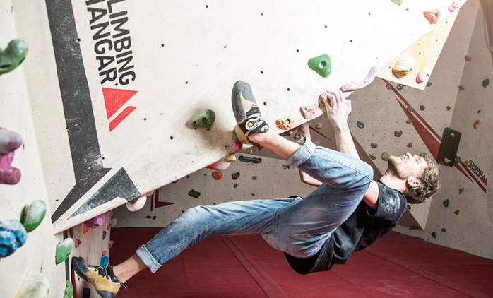 Indoor Climbing Lesson for Beginners and Day Pass for One, Two or Four at The Climbing Hangar (Up to 55% Off)