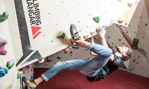 The Climbing Hangar: Indoor Climbing Lesson for Beginners and Day Pass for One, Two or Four at The Climbing Hangar (Up to 55% Off)