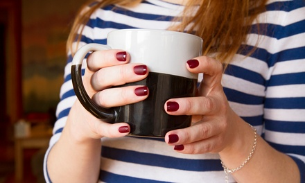 Shellac Manicure or Full Set of Sparkle Gel Nails at Pure Essence Nail & Esthetics (Up to 50% Off)