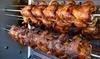 Menú de pollo asado con patatas