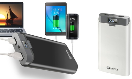 Batería externa con pantalla digital de 20000 mAh